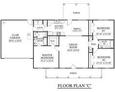 house plans one story 3 bedroom house plans one story no garage houses