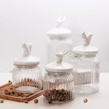 bocaux cuisine 1 pièce en verre transparent bocaux bocaux joint grains de stockage