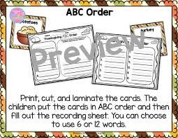 thanksgiving literacy center activities teaching with and