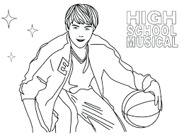 High School Musical Coloring Pages Music Coloring Page High School Coloring Pages For High