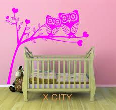 aliexpress com buy owl tree hearts cute scenery vinyl wall decal