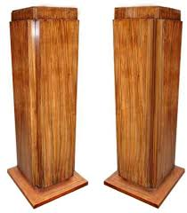 Modern Display Pedestal A Pair Of Modern Art Deco Style Faux Rosewood Pedestals C