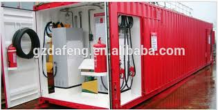 Storage Containers South Africa - portable skid mounted container mobile fuel station exported to