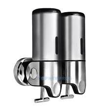 Bathroom Shower Shampoo Holder 3 Chamber Holder Silver Shower Shampoo Soap Dispenser Wall Mount