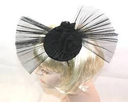 funeral hat black funeral hat etsy