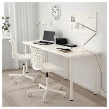 Long Computer Desk by Adils Linnmon Table White 200x60 Cm Ikea