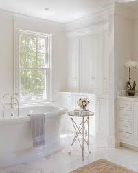 Traditional Bathtub Elegant Bathtub With Glass Top Round Directoire Accent Table