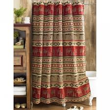 Southwestern Style Curtains Rustic Cimarron Southwest Shower Curtain Reclaimed Furniture