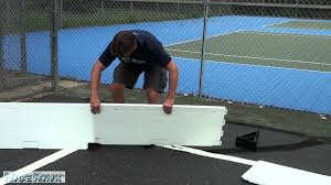 how to install a backyard ice rink on a hard surface nicerink