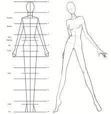 fashion illustration proportion chart 9 heads tall ooak