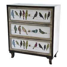 Chest End Table 3 Drawer Bird On A Wire Painted Chest Rc Willey Furniture Store
