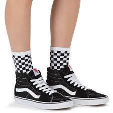 Shinner Shinner Sock Black White Checker Vans Shop