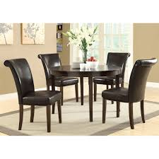 brilliant design round espresso dining table tremendous monarch