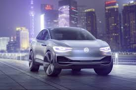 volkswagen electric concept volkswagen i d crozz is an electric crossover concept with the