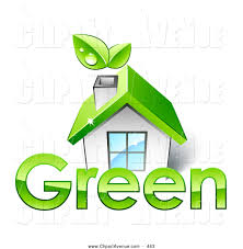 royalty free stock avenue designs of green homes