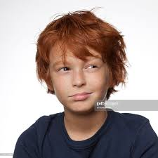 portait of 10 year redheaded boy stock photo getty images