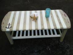 themed coffee table surf beaches and coffee on