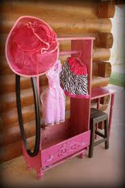 girls dress up closet vanity desk rustic homestead shop