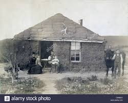 rural life in nebraska the laulerman family in front of their sod