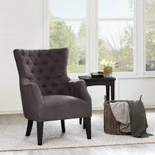 Tufted Accent Chair Anabel Button Tufted Accent Chair Charcoal American Home