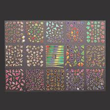 15 sheets nail art transfer stickers 3d design manicure tips decal