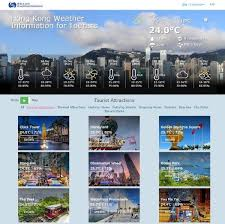 hong kong tourist bureau observatory launches hong kong weather information for tourists website