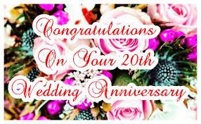 20th wedding anniversary 20th wedding anniversary card congratulations greetingshare