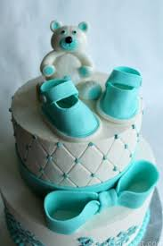 baby shower cakes for baby shower cake design with fondant baby shoes and teddy