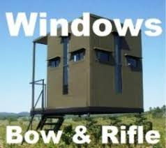 Stand Up Hunting Blinds Flip Open Deer Stand Bow U0026 Rifle Hunting Blind Windows