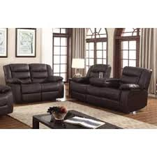 abbyson living bradford faux leather reclining sofa dark brown recliners living room furniture sets for less overstock com