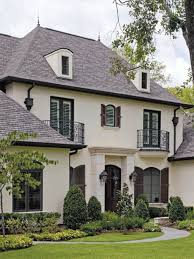 country french home plans love the off white and the black trim on this house curb