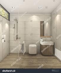 3d rendering minimal warm bedroom good stock illustration