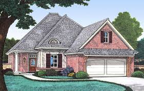 narrow lot french country house plan 48309fm architectural