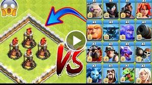 clash of clans all troops 4x s vs all troop clash of clans max s vs every single troop coc