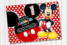 Unique Party Party Invitations Cool Mickey Mouse Party Invitations Design
