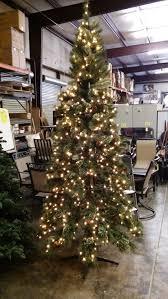 9 pre lit pine set tree w pinecones