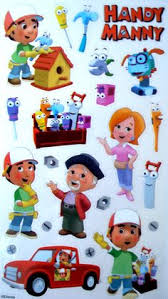 handy manny talking tools square sticker handy manny