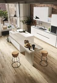 contemporary style fitted kitchen with island with peninsula first