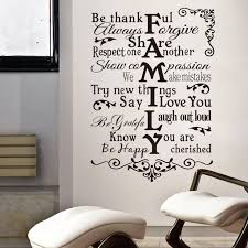 House Rules Design Com by Wall Decoration Family Wall Sticker Lovely Home Decoration And