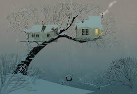 snowy tree house by pascalcion on deviantart