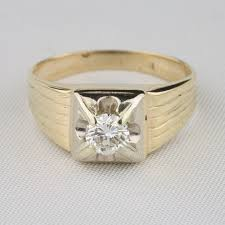 preowned engagement rings pre owned mens vintage carat solitaire ring runuplabs
