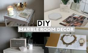 Diy Bedroom Decor by Diy Marble Room Decor Cheap U0026 Simple Youtube