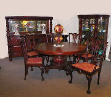 Mahogany Dining Room Furniture Mahogany Antique Dining Sets 1900 1950 Ebay