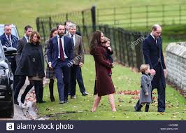 the duke and duchess of cambridge arrive at st marks englefield