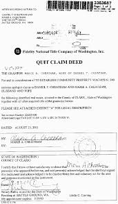 quick claim deed samples