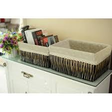 casier pour bureau panier d osier rangement meubles de bureau étagère salle de bain