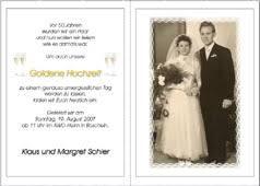 einladungskarten goldene hochzeit mit foto einladung für goldene hochzeit sajawatpuja