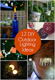 Diy Backyard Lighting Ideas 12 Diy Outdoor Lighting Ideas The Craftiest Couple