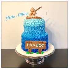 Fishing Themed Baby Shower - a fishing themed baby shower cake my cakes and cupcakes