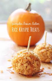 Rice Crispy Treat Pumpkins Pumpkin Rice Krispie Treats With Lovely